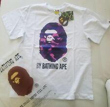 Mens Bape A Bathing Ape Big Ape Head Purple Camo Size M