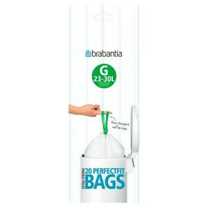 Brabantia Bin Liners Size G 23-30 L And Hand Hygiene UK 23-30 Litre 20 40 Bags