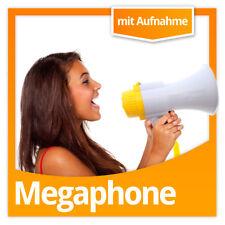 Megaphone Megaphon Megafon mit Mikforon & Aufnahme und 15 Watt Sinus-Leistung!