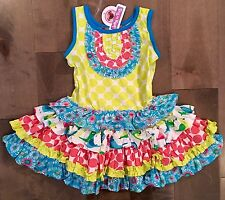 Jelly The Pug Size 3T Yellow Bird Of A Feather Chloe Dress 100% Cotton NWT