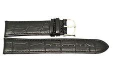 GORGEOUS 22MM BLACK ALLIGATOR LEATHER WATCH BAND STRAP FOR TIMEWALKER MONT BLANC