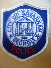 Patches: CITY OF SAVANNAH GEORGIA USA POLICE PATCH (NEW*apx.8.5x8 cm)