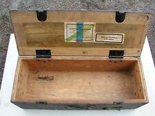 Vieja Wehrmacht caja de madera caja de munición para panzergranat-cartuchos 1940 apilables