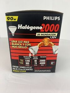 """1 Par 38 Philips Halogen 2000 Indoor/outdoor Flood 90w 130v 4.75"""" Diameter Bulb"""