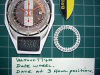 #2557 Date Indicator Pult 1970s Vintage Breitling Heuer Valjoux 7740 Chronograph
