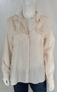 Patagonia Shirt Size Medium Pink Stripes Convertible Sleeves Organic Cotton NWT