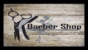Barber Shop Bar Runner Counter Mat Barbers Salon Hairdressing Rustic 1071