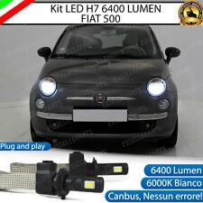 KIT LED FIAT 500 CINQUECENTO LED H7 6000K XENON BIANCO NO AVARIA CANBUS 6400 LM
