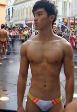 Shirtless Male Asian Hunk Speedo Jock International Guy PHOTO Pinup 4X6 P1089