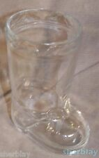 Vintage Clear Glass STUDIO NOVA CHRISTMAS BOOT Candy Nut Dish Container Holder