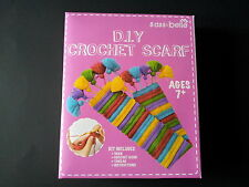 Childrens Crochet Scarf Kit complete with instructions, crochet hook and wool