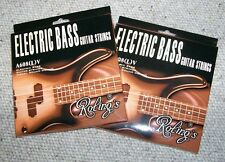 2 Mute complete da 4 corde  BASSO Elettrico 2 Set Roling's Bass guitar Strings