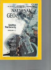National Geographic September 1983 Satellites That Serve Us Spacelab 1