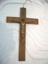 Jesuskreuz Jesus 25 cm,kupferfarben,zum Hängen,Jesus Wandkreuz,Poly-Metall