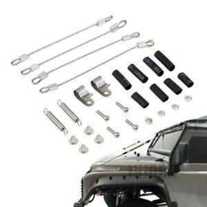 4PCS Steel Rope for 1/10 RC Crawler Car Traxxas TRX-4 TRX4 Axial SCX10 D90 D110