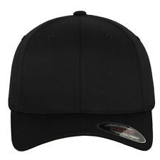 Flexfit Baseball Cap Wolley Combed kappe 6277 S/m Black