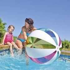 "Giant Intex 42"" Inflatable beach ball Colourful stripe design Jumbo ball - 107cm"