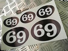Cafe Racer 69 retro adhesivos, scooter, racer, balancín Calcomanías