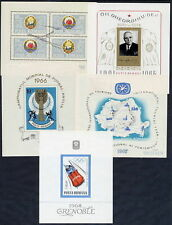 ROMANIA 1965-67 complete blocks MNH / **.  Michel Blocks 60-64