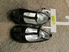 a2ff66907c94 Girls Size 8 Crazy 8 Eight Black Patent Dress Shoes Easy Close new