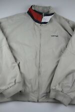 Tommy Hilfiger Jacket Flag Neck Size XXL tan beige spell out vtg