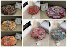 7 PC Wholesale patchwork floor pillow pouf cover cotton embroidery cushion cover