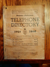 Vintage Nassau Bahamas Telephone Directory 1959 1960 + Yellow Pages Advertising