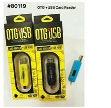 Otg Card Reader + USB HUB #80019 - YELLOW