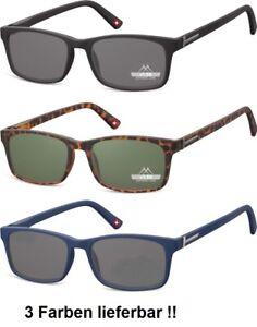 Lesebrille getönt Damen/Herren Montana Lesehilfe schwarz,blau,braun Sonnenbrille