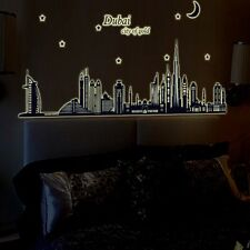 Big Wall Decals Of DUBAI City glow in The dark Self Adhesive Decorative Stickers