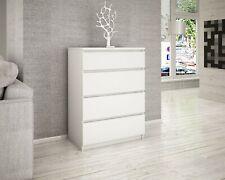 Cassettiera bianca 4 cassetti mobile moderno camera da letto armadio arredo C010