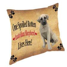 Anatolian Shepherd Puppy Spoiled Rotten Dog Throw Pillow 14x14