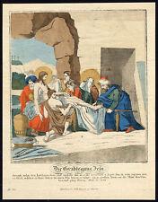 Antique Master Print-THE ENTOMBMENT OF JESUS CHRIST-Geuder-c. 1800