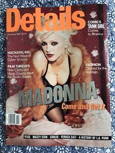 Vintage Details Magazine, Madonna on cover, #MS-252 December 1994