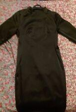 (NEW) Womens Topshop Premium REAL SATIN Black Dress LBD