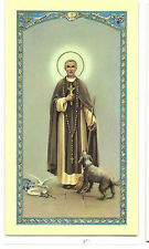 SAINT MARTIN DE PORRES  ~ LAMINATED PRAYER BOOK CARD  - DOMINICAN BIBLE JESUS