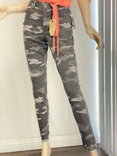 Democracy Womens CAMO High Rise Elastic Waist Ab Solution Skinny Pants NEW