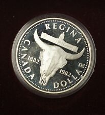 1982 Canada $1 Commemorative Proof Coin Cow Skull Centennial Royal Mint
