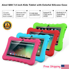 "7"" 18GB Android Quad Core 3G 2*Cam WIFI Tablet PC TF 64GB For Kid w/ Bundle Case"