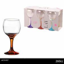 6pk Wine Glasses 26cl Asst Colours