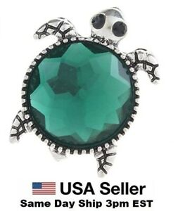 Snap Jewelry sea Turtle Rhinestone Green 18-20mm Fits Ginger Charms Accessories