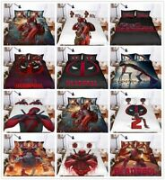3D Deadpool Harley Quinn Kids Bedding Set Duvet Cover Comforter Cover Pillowcase