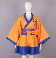Anime Dragon Ball Son Goku Kimono Lolita Vestido de Disfraz Cosplay envío gratuito