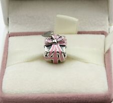 AUTHENTIC PANDORA  WRAPPED WITH LOVE PINK ENAMEL, 791132EN24    #579