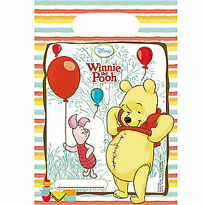 Winnie The Pooh Plastic Party Bags 6pk