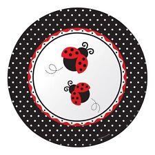 """LADYBUGS""   Pack of 8 - Ladybug Fancy Party Banquet Plates!"