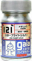 GAIA COLOR 121 Star Bright Silver GUNDAM MODEL KIT LACQUER PAINT 15ml NEW