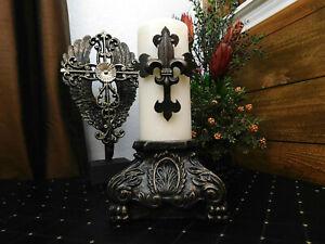 Capital Pillar Candle Holder, Rose Bowl Riser, Tuscan,Old World, Rococo, NEW