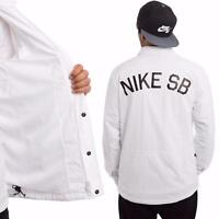 SZ L COOL!! Nike SB Coaches Jacket Triple Water Repellent White 724258-100 $100
