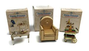 IDEAL Petite Princess Fantasy Furniture Vtg Guest Chair Tea Cart Tier Table